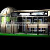 High Quality Stainless Steel Bus Stop Shelter in Good Design with kiosk for Public Equipment