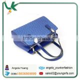 35CM Ostrich silver buckle handbag 2014 high quality Name Brand bag women designer Genuine leather handbags