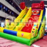 Hot selling high quality commercial adult inflatable clown slide,water climb to slide,smiling slide