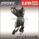 Automotive parts wire harness with switch for offroad,excavator,suv led work light,light bar