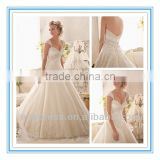2014 New Fashion Exquisite Embroidery on Tulle Edged with Sparkling Beading and Wide Hemline Import Wedding Dress (WDBG-2609)