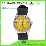 Good plating silver case watch with nylon band