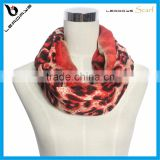 hottest red color leopard on sale infinity pattern scarf