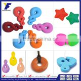 Custom Logo Fashion Silicone Pendant Baby/Girl/Mother/Child Soft Teeth Toys Manufacturers