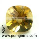 Citrine Semi Precious Gemstone Cushion Square Cut Faceted For Diamond Jewelry From Jaipur