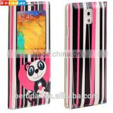 Animal cartoon print oem phone back for samsung note 3 leather case