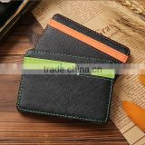 2014 Hot Selling Black PU Leather Magic Wallet With Card Slots/mens pu leather magic wallet with card pocket/Fashion Printed PU/                                                                         Quality Choice