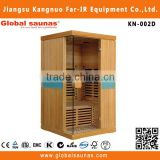 Canada hemlock infrared beauty home sauna machine for 2 person