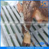 stainless steel cattle abattoir meat hooks of tubular rail