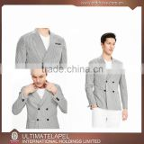Double breasted 4 button mens slim fit blazer with white pants                                                                                                         Supplier's Choice