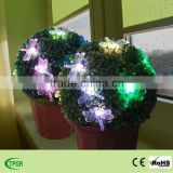 The grass ball with dragonfly solar light for garden decoration outdoor decorative solar light