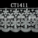cotton floral lace fabric(CT1411)