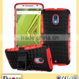 Hot-selling kickstand Protect case for Motorola Moto X Play,Cover for Motorola Moto X Play