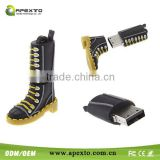 Superb cute boot usb usb Promotional shoe USB Flash Drive Drive Shenzhen Manufacturer 1-32GB!!!