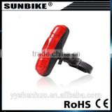High quality factory direct sale cheap 5 red LED bicycle tail light