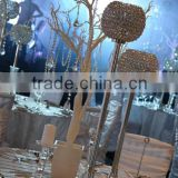 New hot sale artificial white wedding trees for indoor wedding decoration with crystal hanging