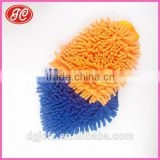 Microfiber two sides chenille Household or car cleaning glove scouring pad microfiber gloves