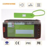 portable rugged android 6.0 4G wifi gps long range RFID reader with 2d handheld barcode scanner