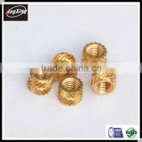 Ultrasonic M4*6*5 Diagonal knurls brass insert nut for plastic injection