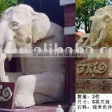 sandstone carved fountain elephant statue