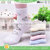 SX 301 baby kid sock bulk wholesale knitted cotton child sock cartoon knitting socks factory with 12 years experience