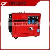 UNQIUE silent diesel generator Electric dynamo price list with Air cooled engine 2 cylinder electricity generator 8kw power