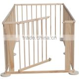 European standard 4 Side Baby Child Wooden Foldable Kids Playpen Baby Playpen