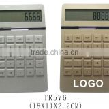 Plastic desktop electronic logo printed calculator with led light