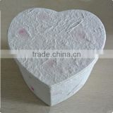 Biodegradable Heart Paper & Cardboard Cremation Casket Urn For Pets