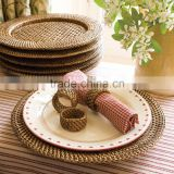Rattan charger round plate