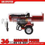 CE approved 13HP Honda GX390 and 13.5hp B & S I/C engine hydraulic vertical and horizontal 36ton used gas log splitter