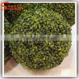 Plastic boxwood balls hollow artificial topiary grass ball customized any size artificial grass ball