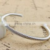 unique design cuff bangle bracelet Alibaba website wholesale bangle bracelet twisted open end bangle bracelet