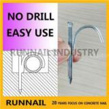 Hook Nails For Pipe, Special Hardened Treatment, Hard Body, No Drill, Easy Use, Time Saving , Germany Technology, Free Samples