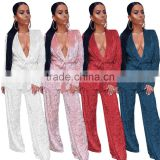B33773A Two Pieces Women best selling loungewear velvet pajamas