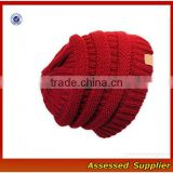 OEM Classical high quality bobble winter knit beanie hat women knit hat for sale free sample hat