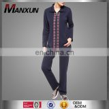 Latest Fashion Burqa Design Muslim Sportwear High Quality Embroidery Beads Islamic Female Clothing Suits