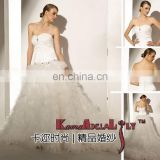 EB967 top grade material sweetheart neckline upper tight bottom delicate organza multi-layer elegance wedding gown bridal dress