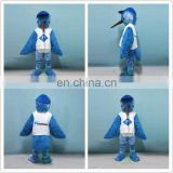 HI CE customized big bird mascot costume for adult size,long fur blue mascot costume with high quality