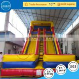 TOP INFLATABLES Multifunctional banzai typhoon twist inflatable for kids long water slide