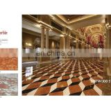 Red marble customized tile pattern