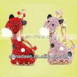 Jewelled giraffe keychain 3D animals Keychain CD-KD028