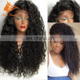 200 Density Lace Wig Natural Mullet Curly Wig With Baby Hair Remy Cambodian Hair Full Lace Wig For Black Women