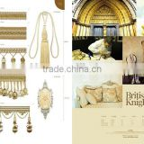 British Knights Templar---Apricot,curtain tassel fringe,wholesale tassels,tassel and fringe