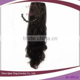 black curly synthetic Long hair pieces