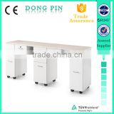 LUXURY white marble cover manicure table with wheels