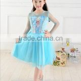 kids satin dress AG-CD0023