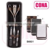 5pcs manicure set in a metal frame bag
