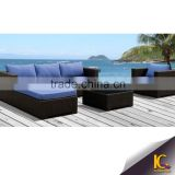 Sofa set designs modern l shape sofa outdoor furniture pe rattan sectional sofa                                                                         Quality Choice