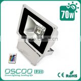 China Oscoo Hot-sale IP65 Die Casting Aluminium CE&Rohs 70 Watt Red-Green-Blue LED Flood Light